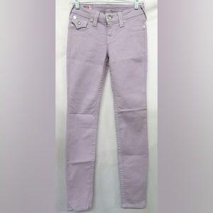True Religion Jeans - True Religion Lilac 'Serena' Skinny Jeans 25 NWOT